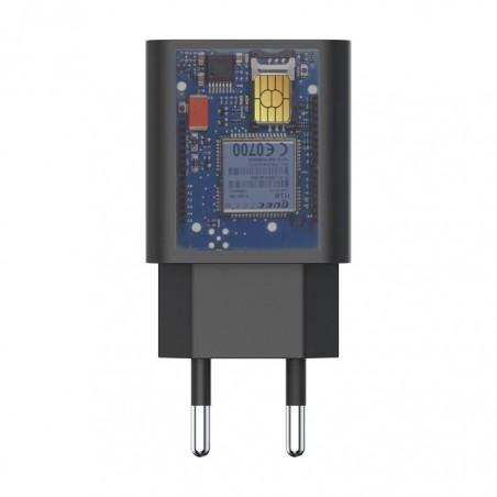Chargeur micro surveillance GSM avec batterie jusqu'à 3 jours en veille